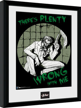 Gerahmte Poster Batman Comic - Joker Plenty Wrong