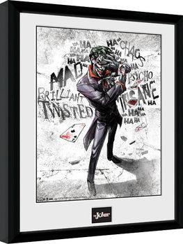 Gerahmte Poster Batman Comic - Joker Type
