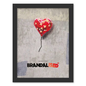 Gerahmte Poster Brandalised - Bandaged Heart
