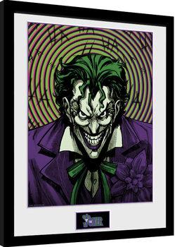 Gerahmte Poster DC Comics - Joker Insane