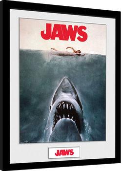 Gerahmte Poster Der weisse Hai - Key Art