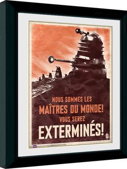 Gerahmte Poster Doctor Who - Daleks