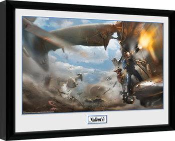 Gerahmte Poster Fallout 4 - Virtibird Door Gunner