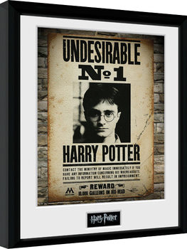 Gerahmte Poster Harry Potter - Undesirable No 1