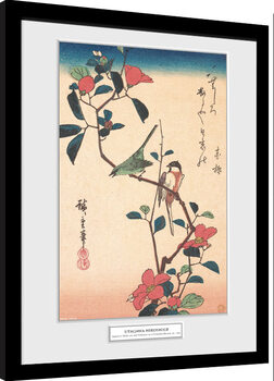 Gerahmte Poster Hiroshige - Japanese White-eye and Titmouse