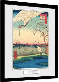 Gerahmte Poster Hiroshige - Minowa, Kanasugi at Mikawashima