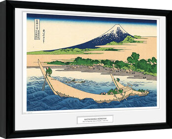 Gerahmte Poster Hokusai - Shore of Tago Bay