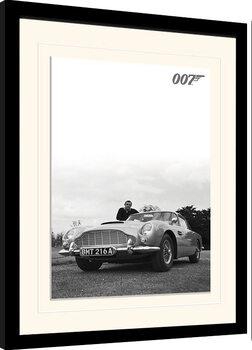 Gerahmte Poster James Bond - Connery B+W
