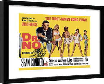 Gerahmte Poster James Bond - Doctor No Yellow