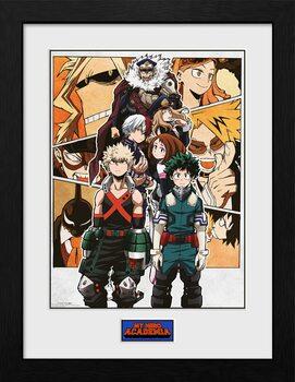 Gerahmte Poster My Hero Academia - Season 4 Key Art 1