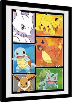 Gerahmte Poster Pokemon - Comic Panels