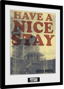 Gerahmte Poster Psycho - Have a Nice Stay