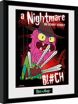 Gerahmte Poster Rick & Morty - Scary Terry