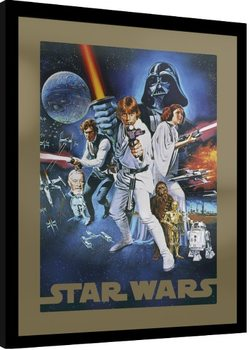 Gerahmte Poster Star Wars - A New Hope