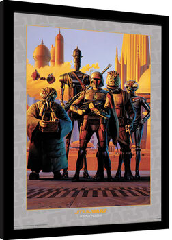 Gerahmte Poster Star Wars - Bounty Hunters
