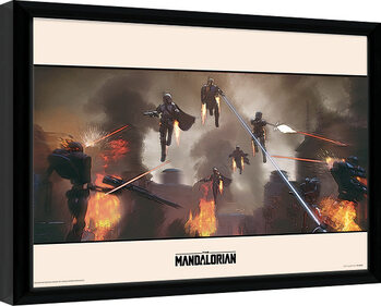 Gerahmte Poster Star Wars: The Mandalorian - Assemble
