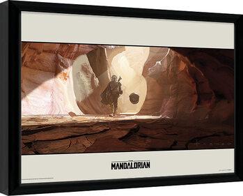 Gerahmte Poster Star Wars: The Mandalorian - Journey