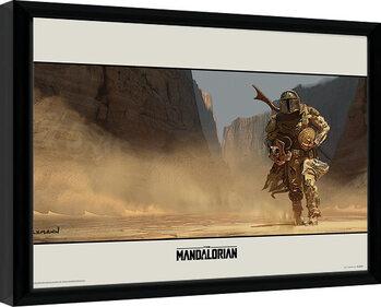 Gerahmte Poster Star Wars: The Mandalorian - Walk