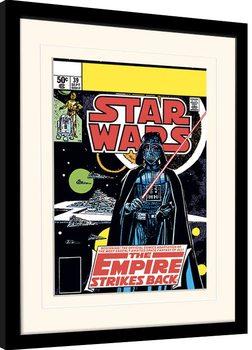 Gerahmte Poster Star Wars - Vader Strikes Back