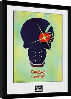 Gerahmte Poster Suicide Squad - Deadshot Skull