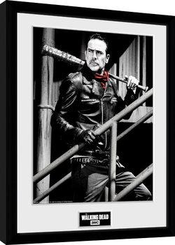 Gerahmte Poster The Walking Dead - Negan Stairs