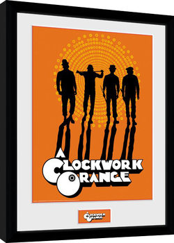 Gerahmte Poster Uhrwerk Orange - Silhouettes