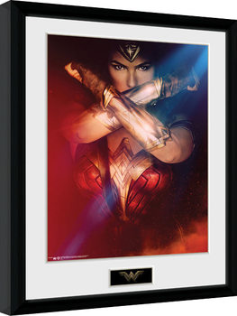 Gerahmte Poster Wonder Woman - Cross