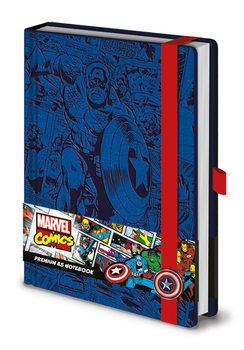 Bilježnica Marvel - Captain America A5 Premium