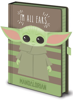 Bilježnica Star Wars: The Mandalorian - I'm All Ears Green
