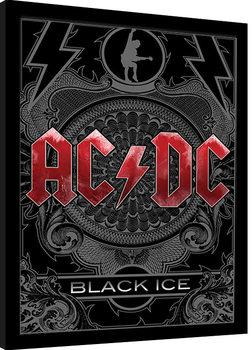 Indrammet plakat AC/DC - Black Ice