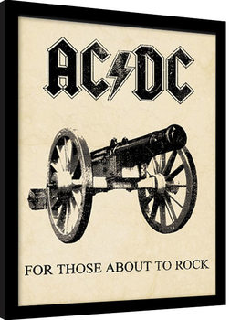 Indrammet plakat AC/DC - for those about to rock