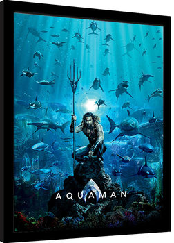 Indrammet plakat Aquaman - Teaser