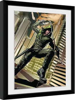 Indrammet plakat Arrow - Cover Green