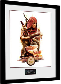 Indrammet plakat Assassins Creed Odyssey - Collage