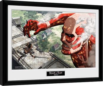 Indrammet plakat Attack On Titan - Titan