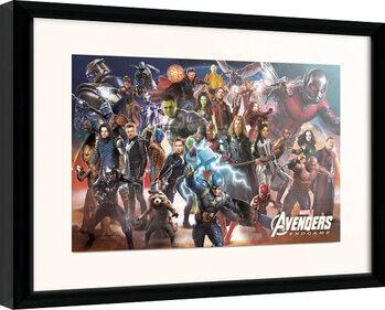 Indrammet plakat Avengers: Endgame - Line Up