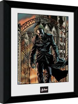 Indrammet plakat Batman Comic - Arkham Asylum