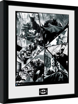 Indrammet plakat Batman Comic - Collage