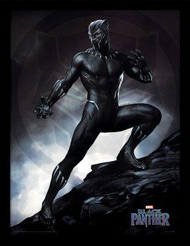 Indrammet plakat Black Panther - Stance
