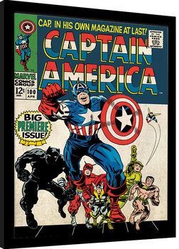 Indrammet plakat Captain America - Premiere