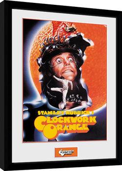 Indrammet plakat Clockwork Orange - Key Art Orange