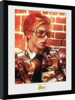 Indrammet plakat David Bowie - Glasses