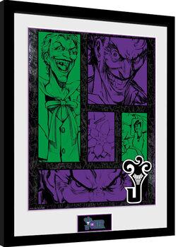 Indrammet plakat DC Comics - Joker Panels