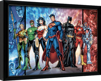 Indrammet plakat DC Comics - Justice League United