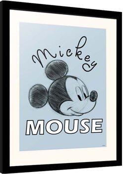 Indrammet plakat Disney - Mickey Mouse