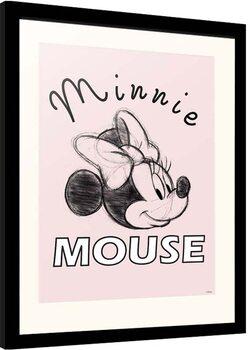 Indrammet plakat Disney - Minnie Mouse