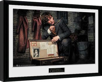 Indrammet plakat Fantastiske skabninger: Grindelwalds forbrydelser - Newt Suitcase