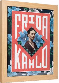 Indrammet plakat Frida Kahlo