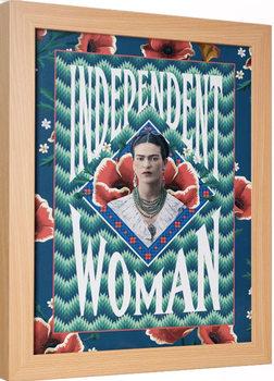 Indrammet plakat Frida Kahlo - Independent Woman