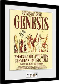 Indrammet plakat Genesis - Cleveland